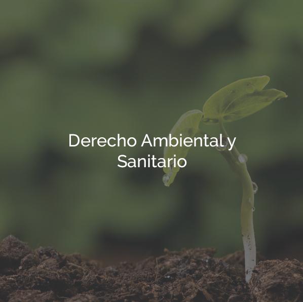 Derecho Ambiental y Sanitario